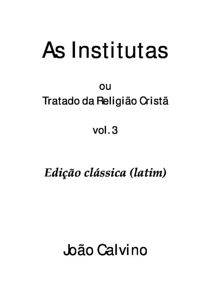 tratado da religião cristã vol.3