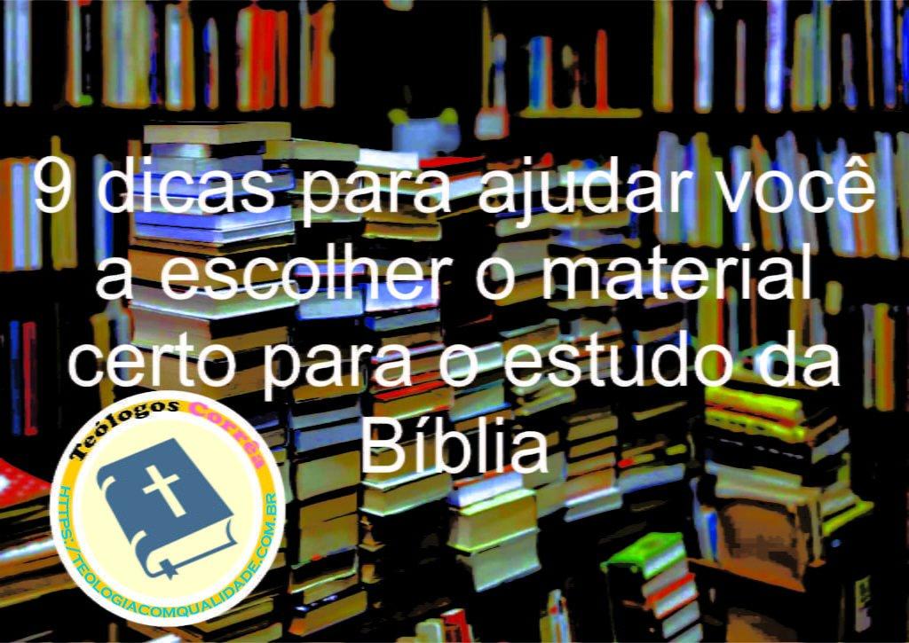 9 dicas para escolher estudo bíblico