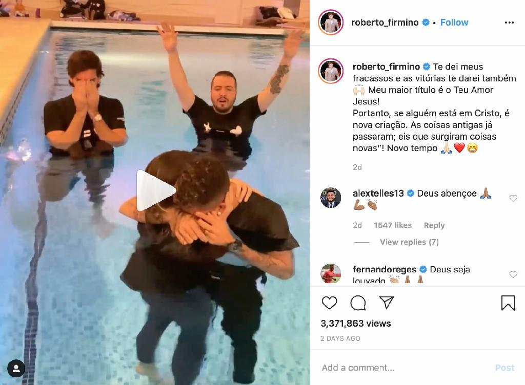 Firmino do Liverpool batizado