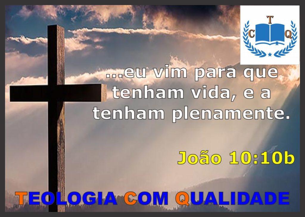 versículo bíblico - João 10:10b NVI