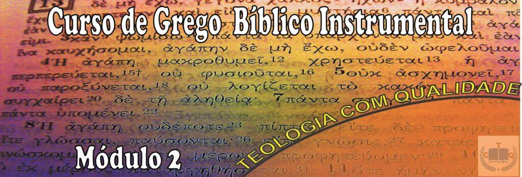 curso pastoral- grego bíblico instrumental módulo 2